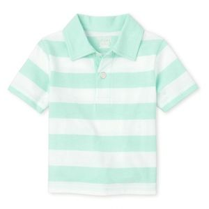 NWT Children's Place Sea Green Striped Polo Top 5T